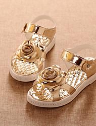 abordables -Chica Zapatos PU Semicuero Verano Confort Apliques Hebilla Cinta Adhesiva para Boda Casual Al aire libre Fiesta y Noche Vestido Rosa Oro