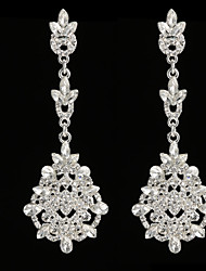 Damen Ohrring Silber / Legierung Strass Drop Earrings