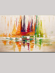 cheap -Oil Painting Hand Painted - Abstract / Landscape / Still Life Modern Canvas / Stretched Canvas