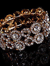 Cadeia de mulheres / pulseira de pulseiras em rolo estilo de strass de liga de diamante