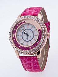 Women's Fashion Watch Wrist watch / Quartz PU Band Casual Black White Blue Red Brown Purple Rose