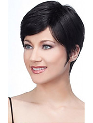 cheap -2015 New Black Lady Straight Short synthetic hair wigs For Women