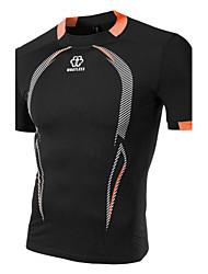 preiswerte -Herren T-shirt-Einfarbig Sport Baumwolle Kurz-Schwarz / Blau / Weiß / Grau