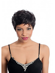 cheap -Top Quality Black 1B Color Short Straight Ladies' Synthetic Wigs Hair