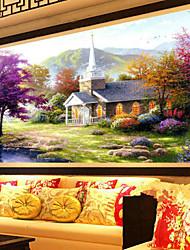 diy 5d diamante mosaico casa cenário bonito do lago pintura diamante cheio kits de ponto de cruz decoração para casa bordados