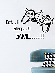 cheap -4045 eat sleep game home decoration minecraft wall sticker removable vinyl house decor game decals