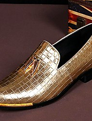cheap -Men's Shoes Leather Spring / Summer / Fall Comfort Loafers & Slip-Ons Golden / Wedding / Party & Evening / Leather Shoes