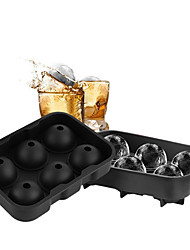 6 Ice Ball Mold Maker Silicone Mold Leak Proof  Secure Closure Silicone Ice Tray