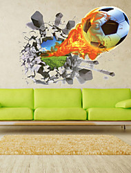 Недорогие -Пейзаж Романтика Мода Геометрия Транспорт фантазия Спорт 3D Мультипликация Праздник Наклейки 3D наклейки Декоративные наклейки на стены,