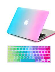 """2 in 1 caso arcobaleno colorato corpo pieno + copertura della tastiera per l'aria del macbook 11 """"Pro 13"""" / 15 """""""