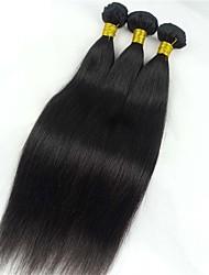 Cabelo Humano Cabelo Peruviano Cabelo Humano Ondulado Liso Extensões de cabelo 1 Peça Preto