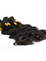 "3Pcs Lot 12-26"" Unprocessed Indian Virgin Hair Body Wave Wavy Natural Color Remy Human Hair Weave/Weft Bundles"