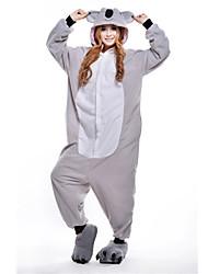 Kigurumi Pajamas Koala Leotard/Onesie Festival/Holiday Animal Sleepwear Halloween Gray Patchwork Polar Fleece Kigurumi For Unisex