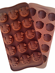 Pig Head Mold Tool Cake Mold Flexible Silicone Mould For Candy Chocolate Baking