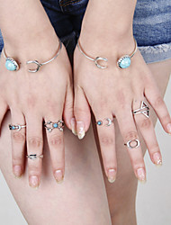 cheap -Women's Turquoise Bangles - Birthstones Silver Bracelet For Party Daily Casual