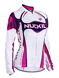 cheap -Nuckily Women's Long Sleeve Cycling Jersey - Purple Geometic Bike Jersey, Anatomic Design, Ultraviolet Resistant, Breathable Polyester