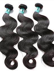 Cappelli veri Brasiliano Ciocche a onde capelli veri Ondulato naturale Extensions per capelli 3 pezzi Nero