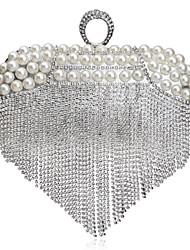 preiswerte -Damen Taschen Polyester Abendtasche Strass Perlen Verzierung für Hochzeit Veranstaltung / Fest Formal Ganzjährig Gold Schwarz Silber
