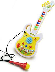 Недорогие -гитара форма микрофон музыка игрушки абс белый / желтый