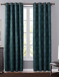 Grommet Top One Panel Curtain Modern , Jacquard Polka Dots Bedroom Polyester Material Blackout Curtains Drapes Home Decoration