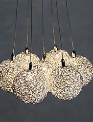billiga -7-Light Klunga Hängande lampor Glödande Elektropläterad Metall Ministil 110-120V / 220-240V Glödlampa inkluderad / G4