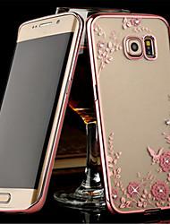 billiga -fodral Till Samsung Galaxy Samsung Galaxy S7 Edge Genomskinlig Skal Blomma TPU för S8 Plus / S8 / S7 edge