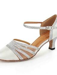 Women's Dance Shoes Leatherette Leatherette Latin / Modern / Salsa Heels Heel PracticeBlack / Blue / Red / White Customizable