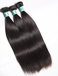 Недорогие -3 Связки Малазийские волосы Прямой Не подвергавшиеся окрашиванию Человека ткет Волосы Ткет человеческих волос Мягкость Расширения человеческих волос / Прямой силуэт