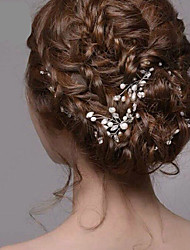 cheap -Women's Silver Pearl Rhinestone Hairpins Hair Jewelry for Wedding Party