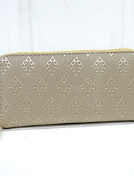 cheap -Women Bags PU Wallet for Casual Spring Gold Black Beige Blue