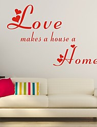 AYA™ DIY Wall Stickers Wall Decals, Love Make a House a Home English Words & Quotes PVC Wall Stickers