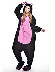 preiswerte -Kigurumi Pyjama Schweinchen/Schwein Einteiler Pyjamas Kostüm Polar-Fleece Schwarz Cosplay Für Erwachsene Tiernachtwäsche Karikatur
