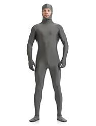 cheap -Zentai Suits Ninja Zentai Cosplay Costumes Gray Solid Leotard/Onesie Zentai Spandex Lycra Unisex Halloween