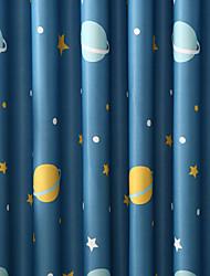 Недорогие -Нанизать стержень занавески Люверс занавески Вешалка занавески Морщиться В обтяжку 2 шторы Окно Лечение Modern, С картинкой Мультипликация