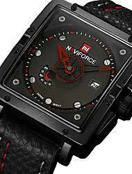 cheap -Men's Wrist Watch Calendar / date / day Rubber Band Charm Black / Red / Brown