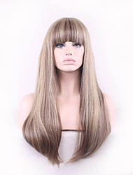 Capless Multi-Color Long Length High Quality Natural Straight Hair Synthetic Wigs
