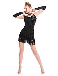 Devrions-nous des robes de danse latine vêtements féminins de paillette