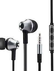 metallo basso stereo auricolare cuffie auricolari con microfono per iPhone lettore mp3 samsung Xiaomi