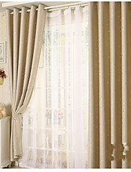 Little Star One Panel Country Living Room Polyester Sheer Curtains Shades