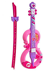 cheap -Violin Shape Plastic Pink / Purple Music Toy For Kids