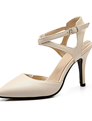 Da donnaFormale-Tacchi / Con cinghia / A punta-A stiletto-Finta pelle-Nero / Beige