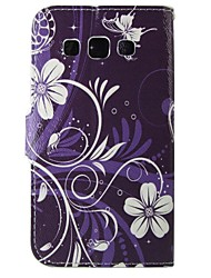 levne -Carcasă Pro Samsung Galaxy Samsung Galaxy pouzdro Pouzdro na karty / se stojánkem / Flip Celý kryt Květiny PU kůže pro A5(2016) / A3(2016) / A5