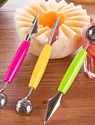 Double-End Stainless Steel Fruit Baller Carving Knife Ice Cream Scoop Spoon Watermelon Melon Carving Cutter