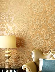 baratos -Floral Papel de parede Contemporâneo Revestimento de paredes,Papel não tecido Sim