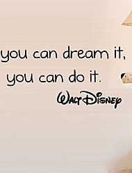 cheap -If You Can Dream It You Can Do It Inspiring Quotes Wall Stickers Home Art Decor Decal Mural Wall Stickers For Kids Rooms