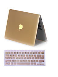 """cheap -Case for Macbook Air 11.6"""" MacBook Pro 13.3""""/15.4"""" Solid Color ABS Material 2 in 1 Matte Metal Color Full Body Case Cover with Keyboard Cover"""