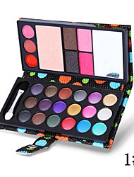 26 Colors Eye Shadow Pressed Powder Lip Gloss Blusher Brow Powder 5in1 Makeup Collection Wallet Packaging