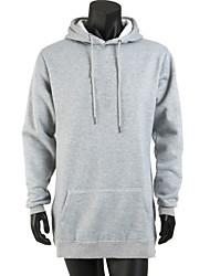 New Men Fleece hoody Hip Hop long hoodie Streetwear Longline Side Zipper Sportwear Hoodies Sweatshirts Coat SOUH8