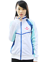 cheap -Inspired by Free! Cosplay Anime Cosplay Costumes Cosplay Hoodies Print Long Sleeves Coat For Men's Women's