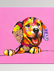 cheap -VISUAL STAR®Lucky Dog Painting Digital Canvas Prints Cute Animal Art Print Ready to Hang